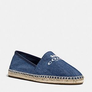 [ Coach ] Rhonda Washed denim espadrilles 8.5